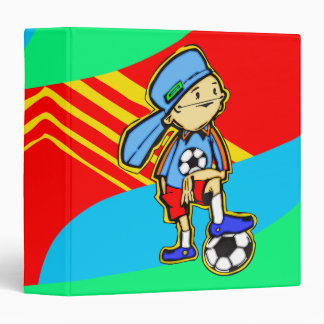 Soccer Game Vinyl Binder
