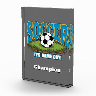 Soccer Game Day Acrylic Award