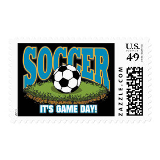 Soccer Game Day Postage Stamps