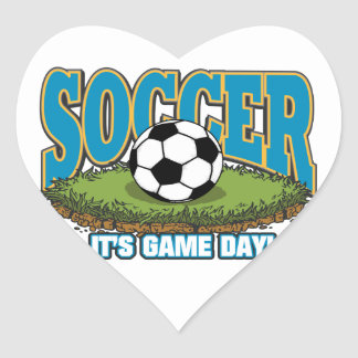Soccer Game Day Heart Sticker