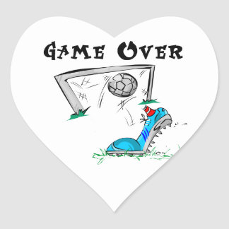 Soccer Game Over T-shirts and Gifts Heart Sticker
