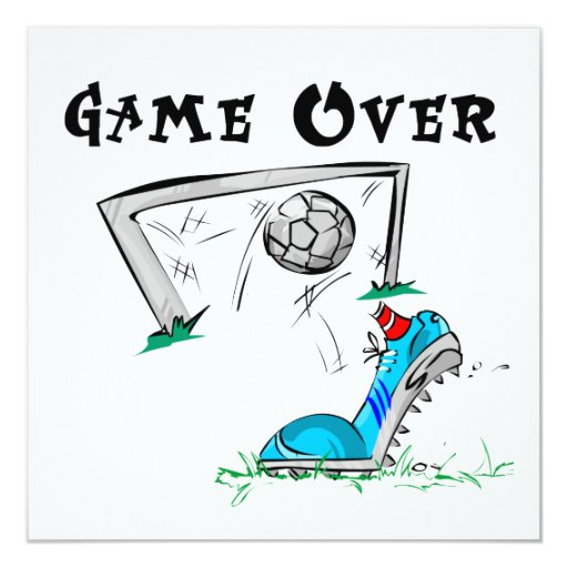 Soccer Game Over T-shirts and Gifts Invitation