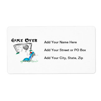 Soccer Game Over T-shirts and Gifts Shipping Label