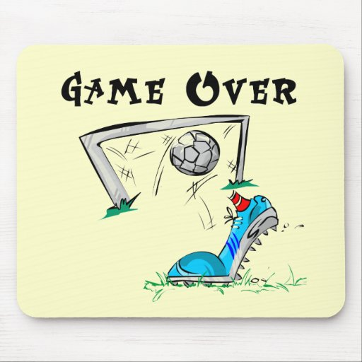 Soccer Game Over Tshirts and Gifts Mouse Pad
