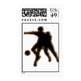 Soccer Game Postage Stamps