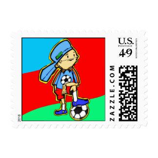 Soccer Game Stamp