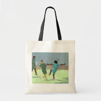 Soccer Game, Tote Bag