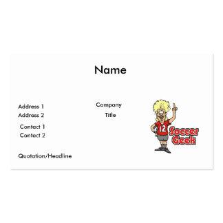soccer geek girl business card