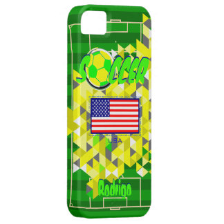 Soccer Geometric Pattern USA Flag name Rodrigo iPhone 5 Covers