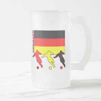 Soccer Germany Frosted Glass Mug