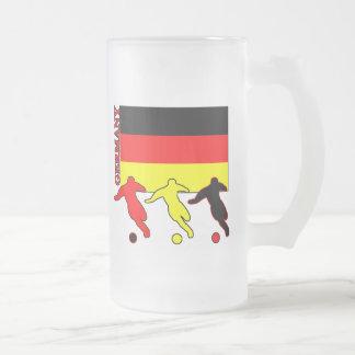 Soccer Germany Frosted Glass Mug