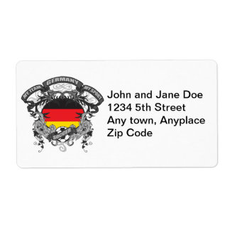 Soccer Germany Shipping Label