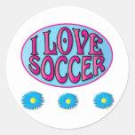 Soccer Gifts Round Sticker