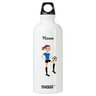 Soccer Girl Aluminum Water Bottle