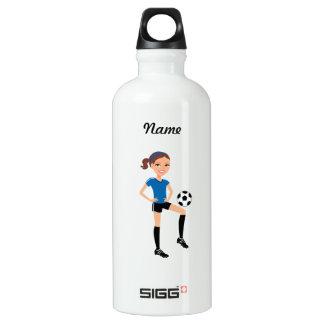 Soccer Girl Aluminum Water Bottle