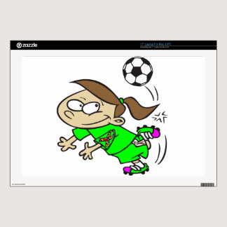 "SOCCER GIRL AUTISM RIBBON 17"" LAPTOP SKINS"