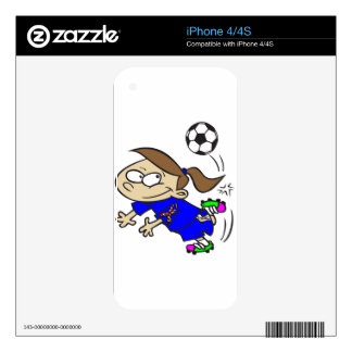 SOCCER GIRL AUTISM RIBBON DECALS FOR iPhone 4S