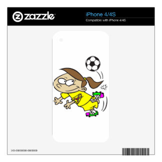 SOCCER GIRL AUTISM RIBBON iPhone 4 DECALS