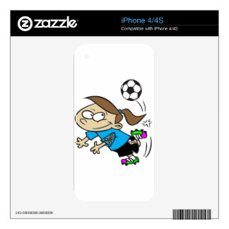 SOCCER GIRL AUTISM RIBBON iPhone 4S DECAL