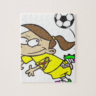 SOCCER GIRL AUTISM RIBBON JIGSAW PUZZLE