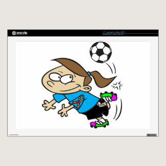 SOCCER GIRL AUTISM RIBBON LAPTOP DECAL
