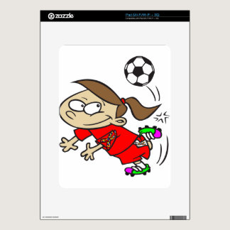 SOCCER GIRL AUTISM RIBBON SKIN FOR THE iPad