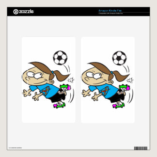 SOCCER GIRL AUTISM RIBBON SKINS FOR KINDLE FIRE