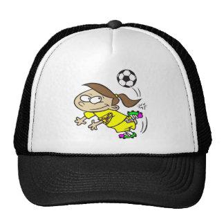 SOCCER GIRL AUTISM RIBBON TRUCKER HAT