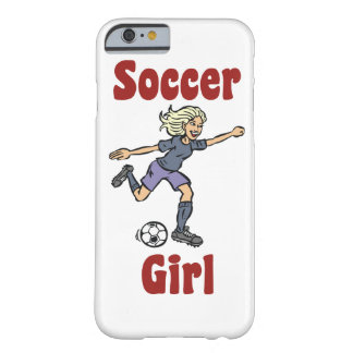 Soccer Girl Barely There iPhone 6 Case