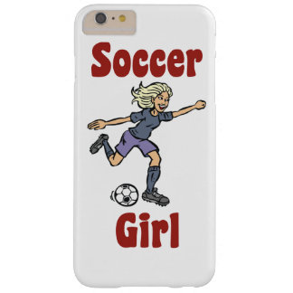 Soccer Girl Barely There iPhone 6 Plus Case