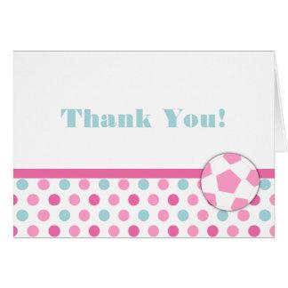 Soccer Girl Birthday Thank You Notes