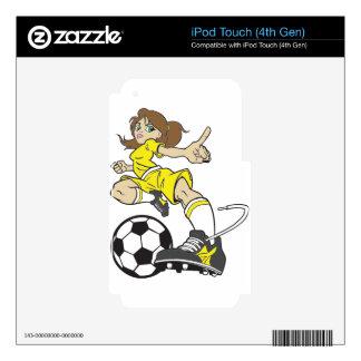 SOCCER GIRL BRUNETTE SKIN FOR iPod TOUCH 4G