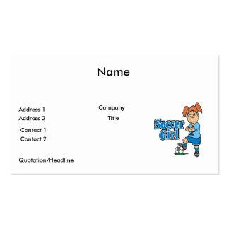soccer girl business cards