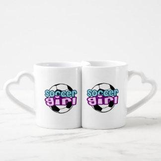 Soccer Girl Coffee Mug Set