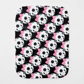 Soccer Girl Emoji Baby Burp Cloth
