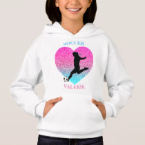 Soccer Girl Heart Hoodie w/ Name