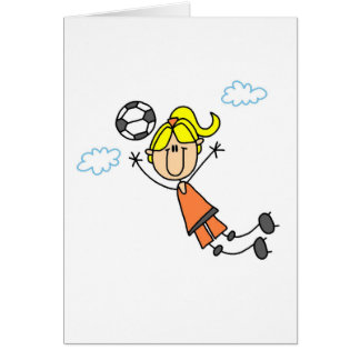 Soccer Girl Lays Out Card
