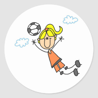 Soccer Girl Lays Out Sticker