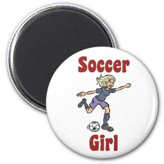 Soccer Girl Magnet magnet