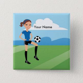 Soccer Girl Magnet Button
