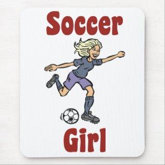 Soccer Girl Mousepad mousepad