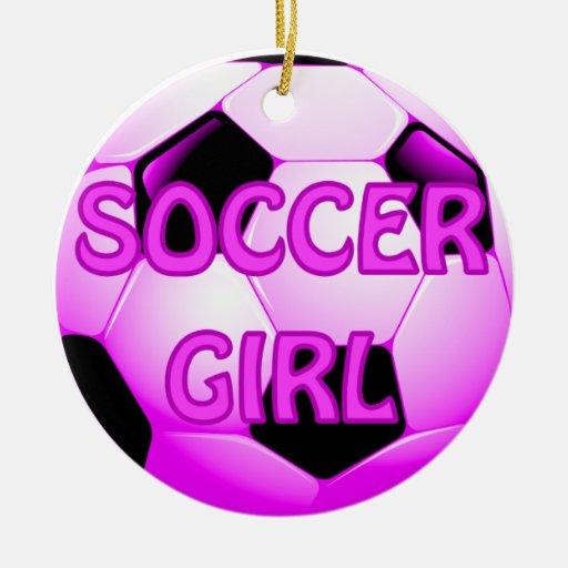 Soccer Girl Ornaments