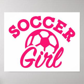 Soccer girl poster