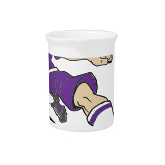 SOCCER GIRL PURPLE TEXT BEVERAGE PITCHERS