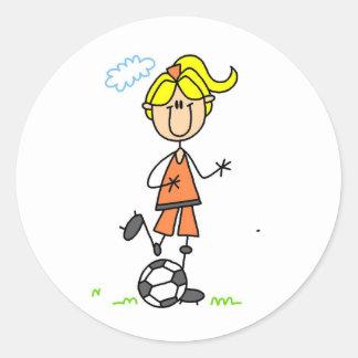 Soccer Girl Sticker