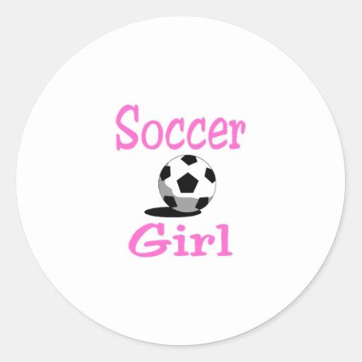 Soccer Girl Round Sticker