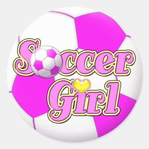 Soccer Girl Stickers