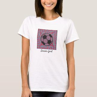 Soccer Girl Swirl. T-Shirt