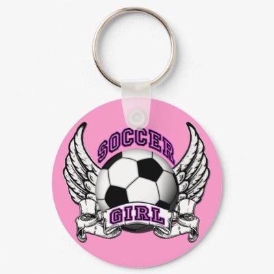 Soccer Girl Tattoo Keychain by StargazerDesigns