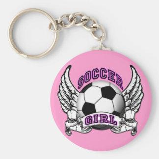 Soccer Girl Tattoo Keychain